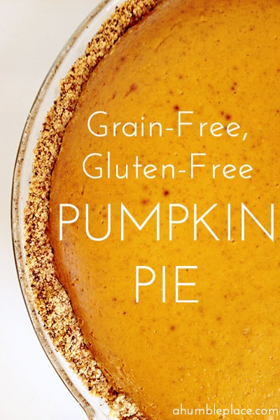 Gluten-free, grain-free pumpkin pie (because grain-free people like holiday favorites too!).
