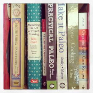 My cookbook collection.