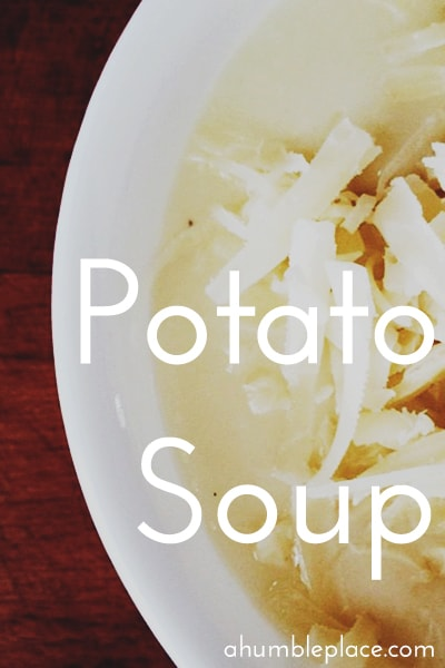 A simple potato soup recipe. Delicious, satisfying, and perfect for St. Patrick's Day! (ahumbleplace.com)