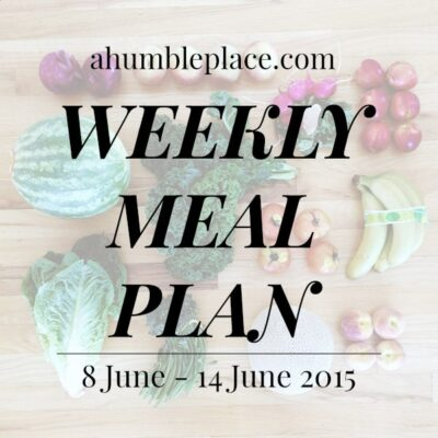 Weekly Meal Plan: 8 June to 14 June