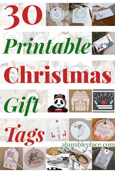30 Printable Christmas Gift Tags (ahumbleplace.com)