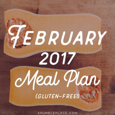 Monthly Meal Plan: February 2017