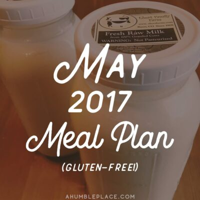 Monthly Meal Plan: May 2017