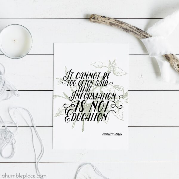 Charlotte Mason Printable Quotes - ahumbleplace.com