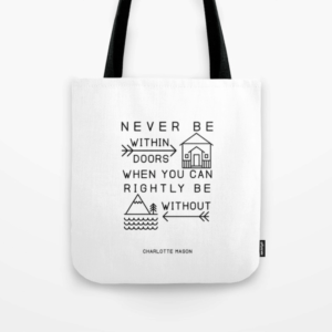Charlotte Mason Quote Tote Bag - ahumbleplace.com