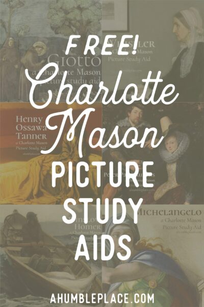FREE Charlotte Mason Picture Study Aids for you to download to use in your homeschool! (no strings attached!) - ahumbleplace.com