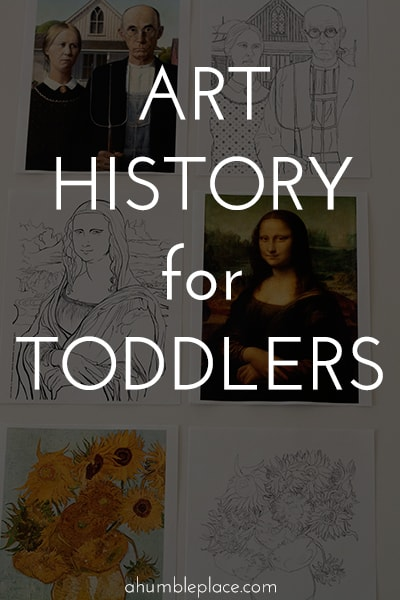 A fun little art history activity for your toddlers! #arthistory #arthistoryforkids #kidsart #artforkids #homeschool