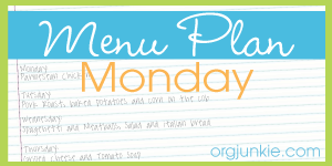 Weekly Menu Plan.