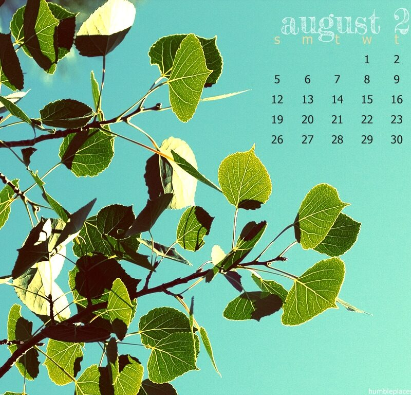 August 2012 Desktop Wallpaper.