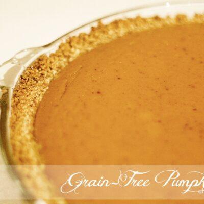Gluten-Free, Grain-Free Pumpkin Pie