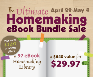 The Ultimate Homemaking eBook Bundle!