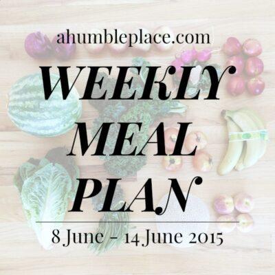 Weekly Meal Plan: 8 June to 14 June