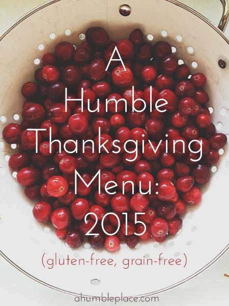 a humble thanksgiving menu (ahumbleplace.com)