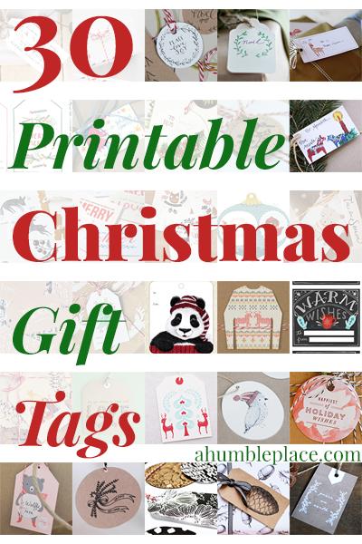 30 Printable Christmas Gift Tags (ahumbleplace.com)