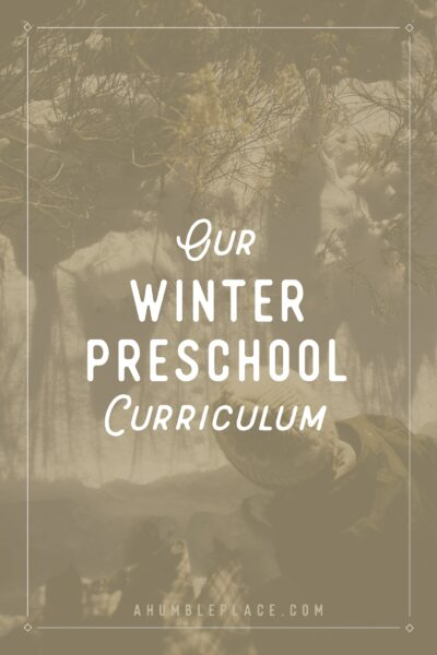 Our Winter Preschool Curriculum - ahumbleplace.com