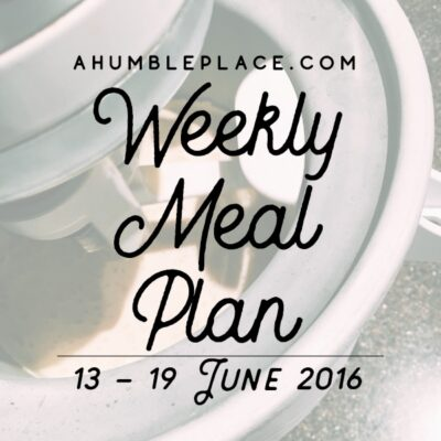 Weekly Meal Plan: 13 June to 19 June