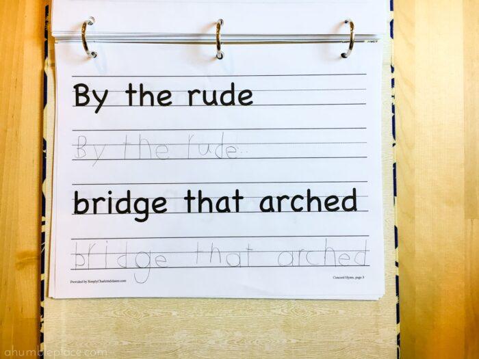Copywork! Charlotte Mason-Inspired Kindergarten Curriculum (Year 0.5) - ahumbleplace.com