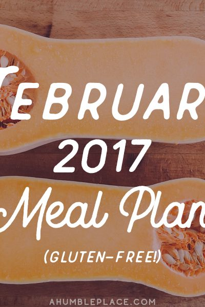 Monthly Meal Plan: February 2017 - ahumbleplace.com