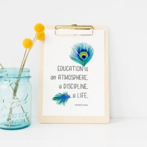"Charlotte Mason ""Education is..."" Quote Downloadable Print - ahumbleplace.com"