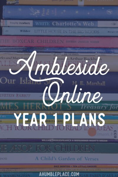 AO Year 1 (or First Grade) Plans - ahumbleplace.com