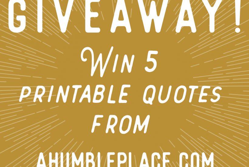 Giveaway at ahumbleplace.com!