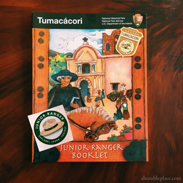 Tumacacori Junior Ranger Badge - ahumbleplace.com