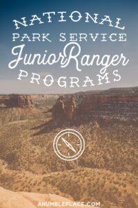 National Park Service Junior Ranger Programs - ahumbleplace.com