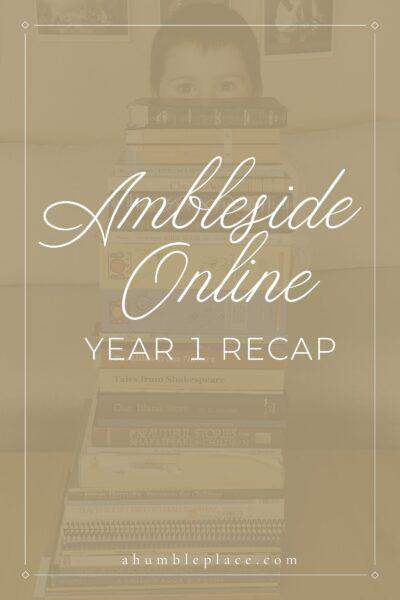 Ambleside Online Year 1 Recap - ahumbleplace.com