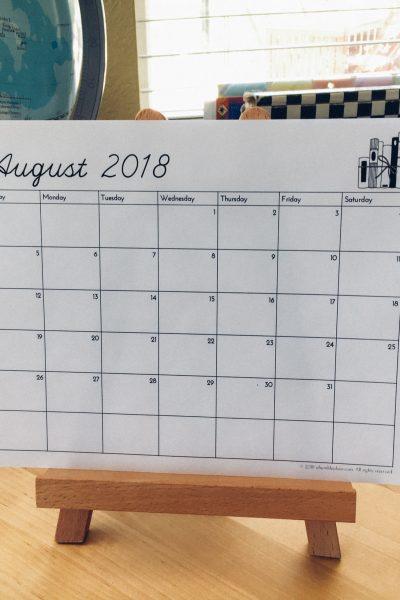 Free Printable Calendar - ahumbleplace.com