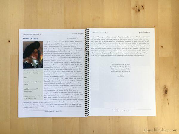 Charlotte Mason Picture Study Aids - ahumbleplace.com