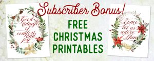 Free Christmas Printables! - ahumbleplace.com