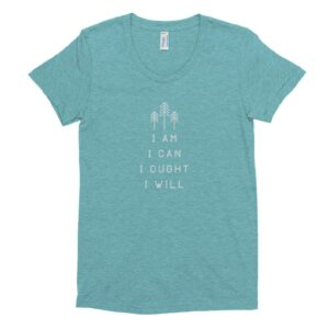 "Charlotte Mason ""I am. I can. I ought. I will."" Line Quote Women's Crew Neck T-shirt - ahumbleplace.com"