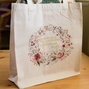 "Charlotte Mason ""Education is..."" Quote Tote Bag - ahumbleplace.com"