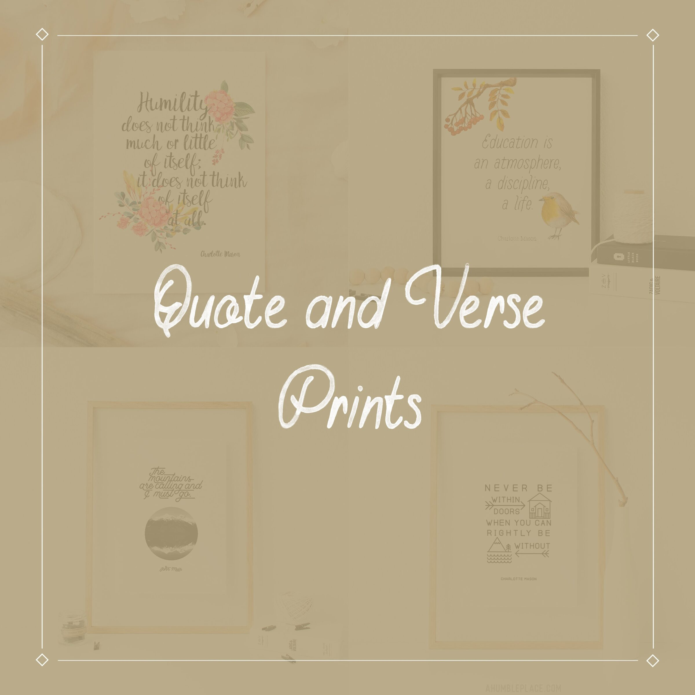 Quote and Verse Prints - ahumbleplace.com