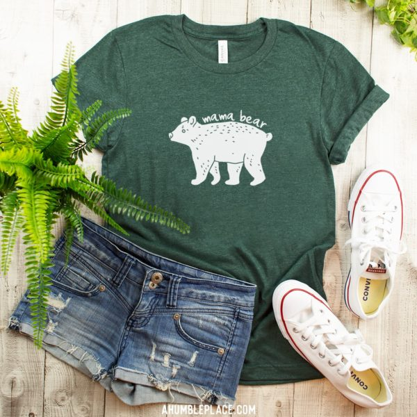 Mama Bear Short-Sleeve T-Shirt - ahumbleplace.com