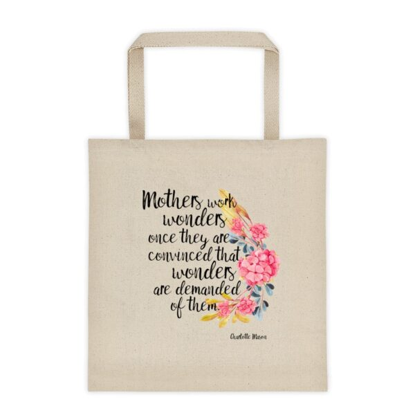 """Charlotte Mason """"Mothers work wonders..."""" Quote Tote Bag - ahumbleplace.com"""