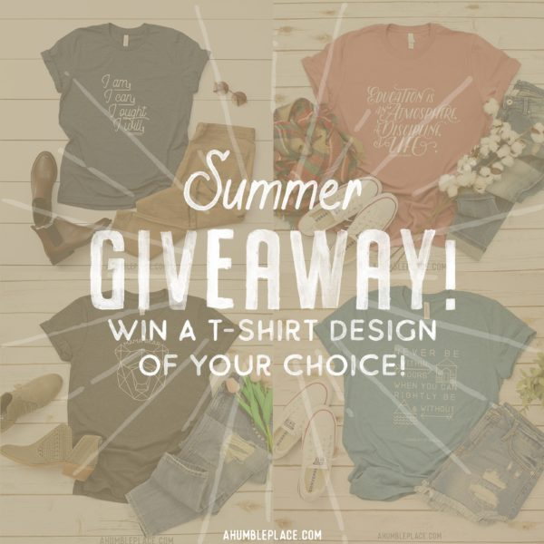 Win a t-shirt! #charlottemason #homeschool