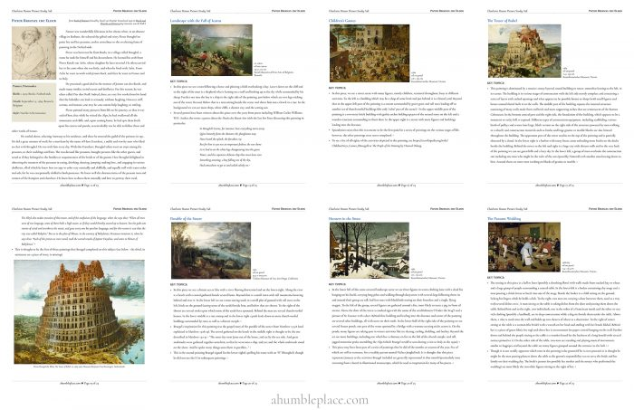 Charlotte Mason Picture Study: Pieter Bruegel the Elder - ahumbleplace.com
