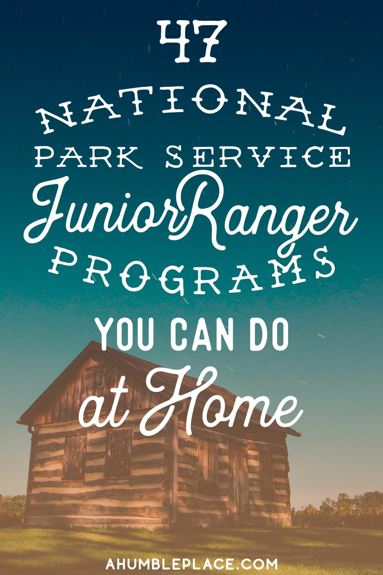 Junior Ranger Badges to Earn at Home
