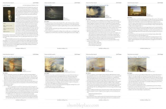 JMW Turner: a Charlotte Mason Picture Study Aid (ahumbleplace.com)