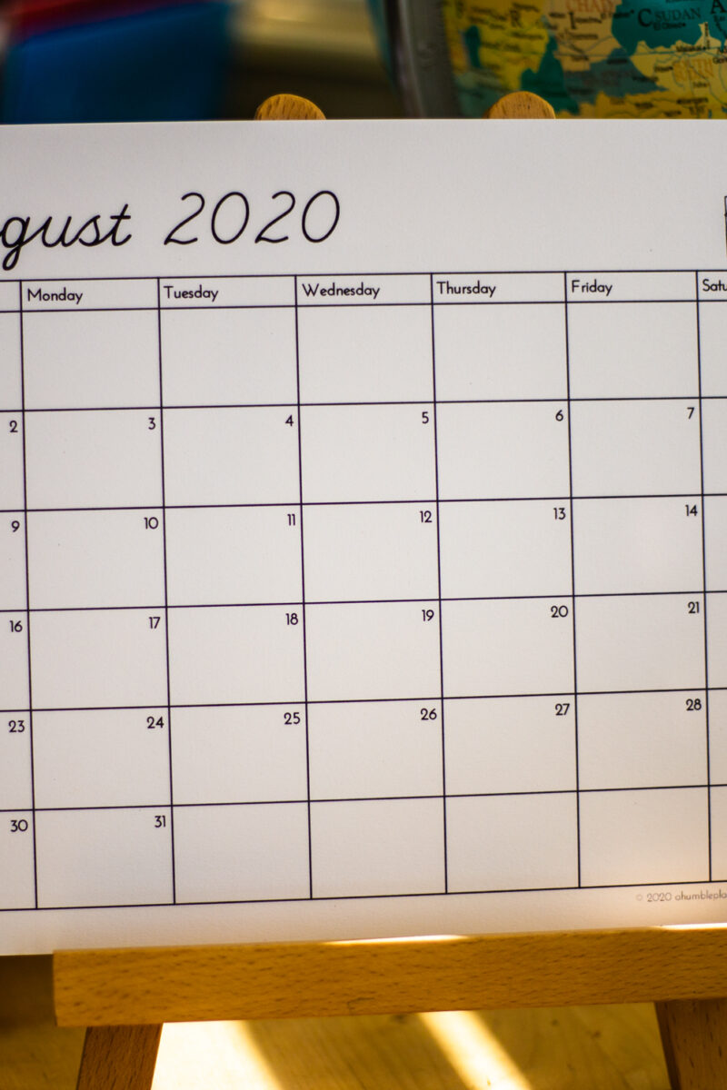 Free Printable Calendar! - ahumbleplace.com