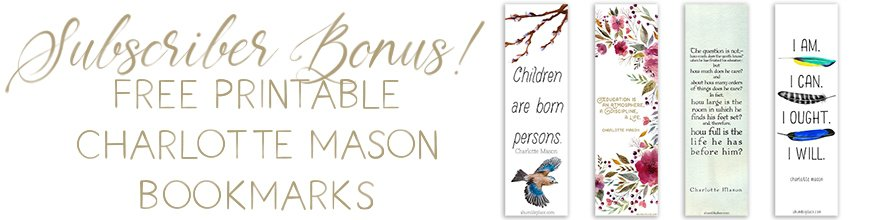 Free Printable Charlotte Mason Bookmarks