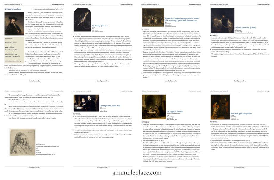 Rembrandt Picture Study