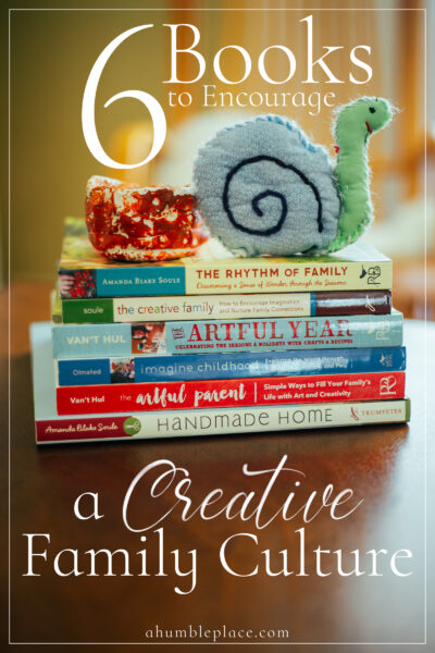 Six books to encourage creativity in your family! Including why creativity is important for children, where to start, and a book list!