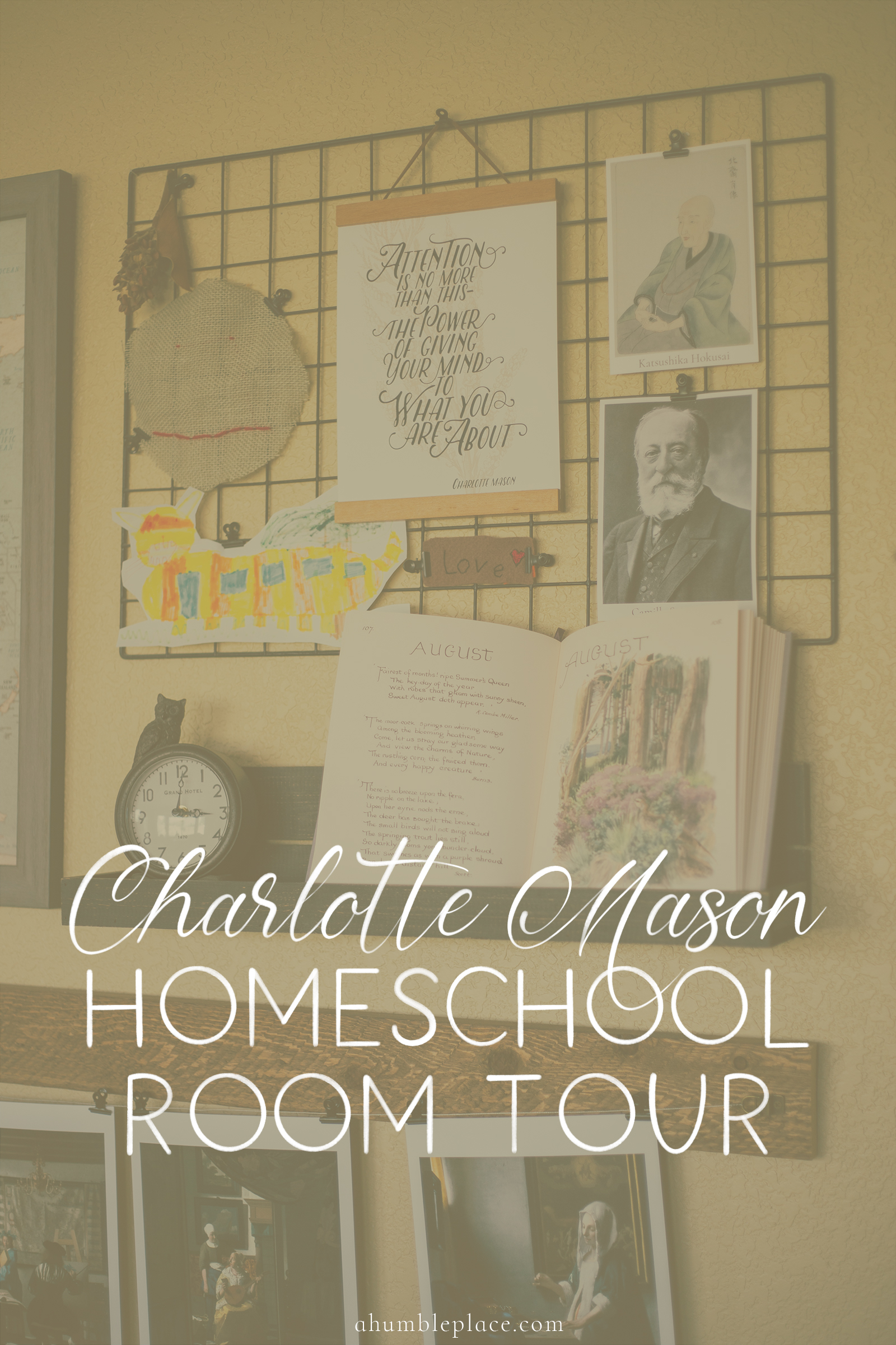 Charlotte Mason Homeschool Room Tour - ahumbleplace.com